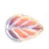Glass Leaves 11x8mm Strung Crystal Aurora Borealis